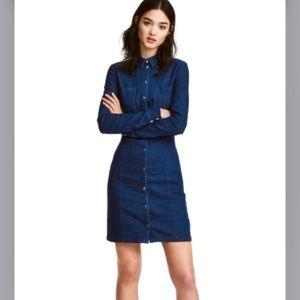 H&M Button down Denim Dress
